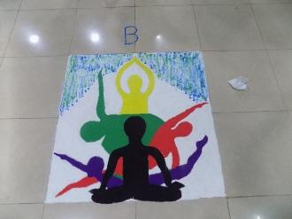 Yoga Day Rangoli 2017